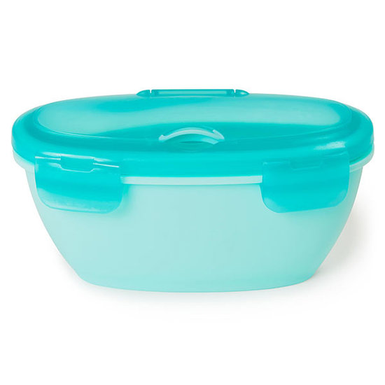 Skip Hop Skip Hop Easy-Serve bowl and spoon Grey-Soft teal