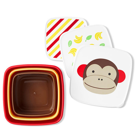 Skip Hop Skip Hop lunch box set of 3 - Monkey