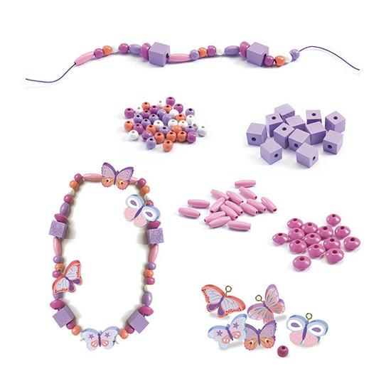 Djeco Djeco wooden beads - Butterflies
