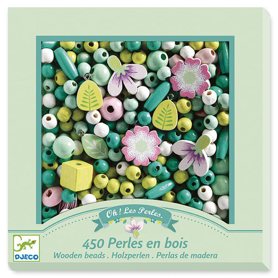 Djeco Djeco wooden beads - Flowers and foliage