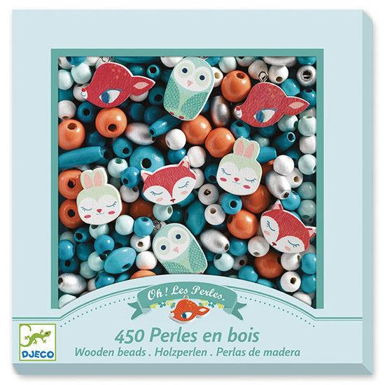 Djeco Djeco houten kralen - Little animals