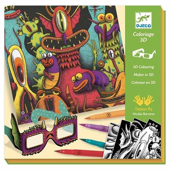 Djeco Djeco 3D-kleuren Funny Freaks
