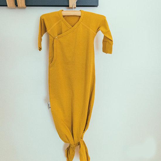 Timboo Timboo Kimono Baby Gown Schlafsack Ocher 0-3M
