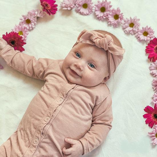 Timboo Timboo Kimono baby gown slaapzak Misty Rose 0-3M
