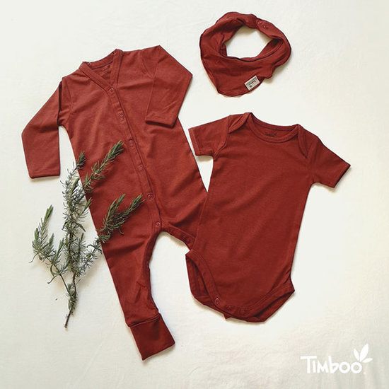 Timboo Bandana dribble bib Rosewood - Timboo