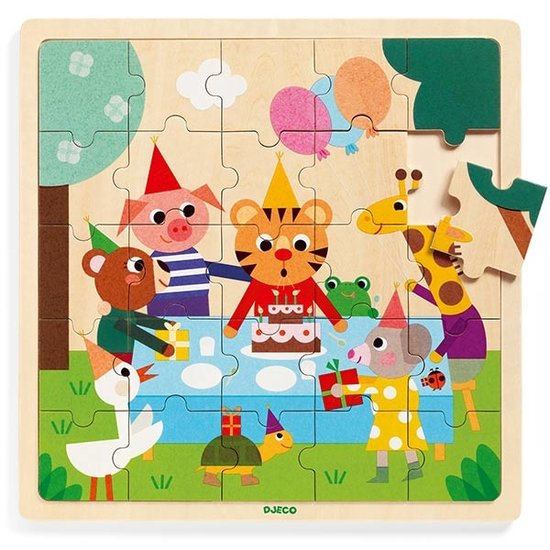 Djeco Djeco houten puzzel verjaardag 25st
