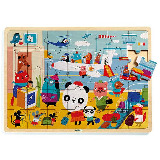 Djeco Djeco houten puzzel luchthaven 35st