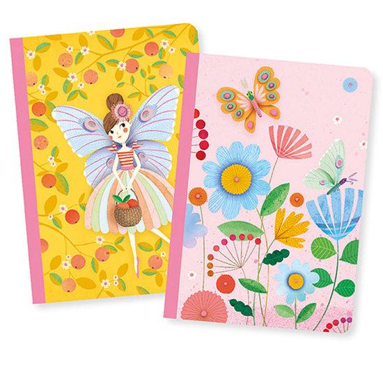 Djeco Djeco notitieboekjes 2 notebooks Rose