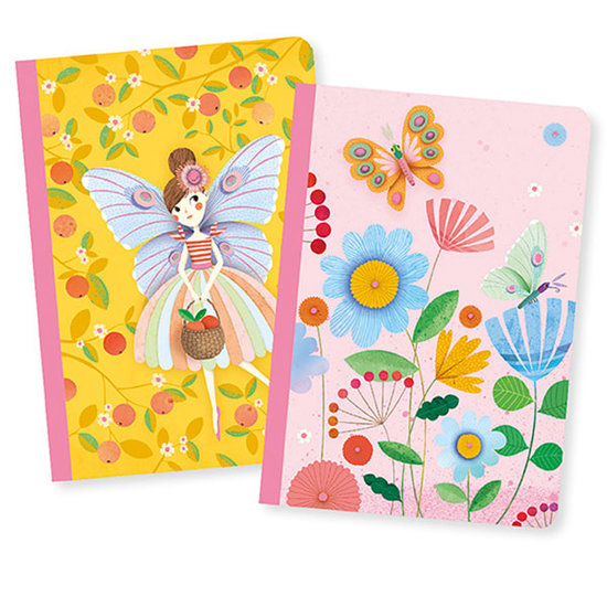 Djeco Djeco Notizbücher - 2 Notebooks Rose