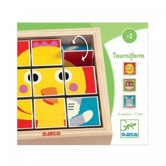 Djeco Würfelpuzzle Tournifarm - Djeco +2 Jahren