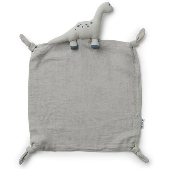 Liewood Baby comforter Dino dove blue - Liewood