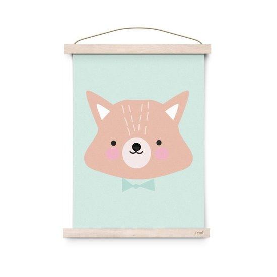 Eef Lillemor Poster Mr Fox mint - Eef Lillemor