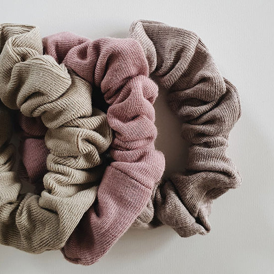 Susukoshi Susukoshi scrunchies 3pack - Artichoke-Mauve-Mushroom
