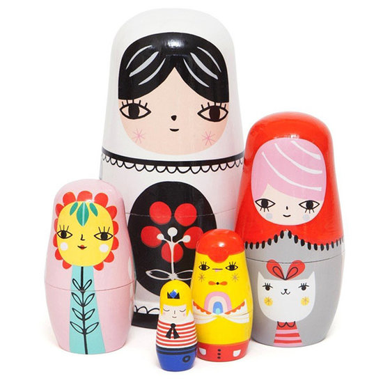 Petit Monkey Nesting dolls Fleur and friends - Petit Monkey