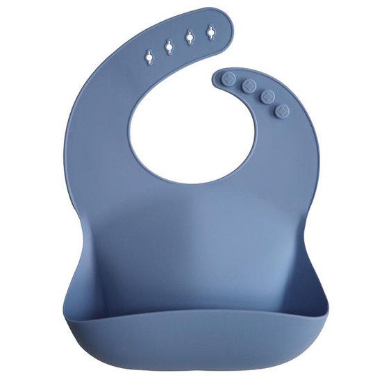 Mushie Mushie silicone slabbetje Powder blue