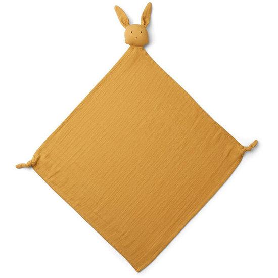 Liewood Liewood Robbie multi muslin cloth Rabbit yellow mellow
