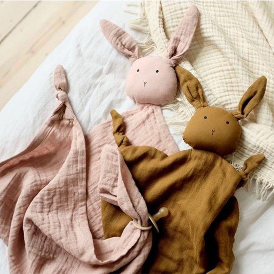 Liewood Liewood Robbie multi muslin cloth Rabbit terracotta