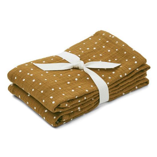 Liewood Hydrofiele doeken Confetti olive 2st - Liewood