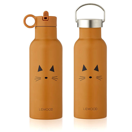 Liewood Liewood Neo thermo drinkfles Cat mustard