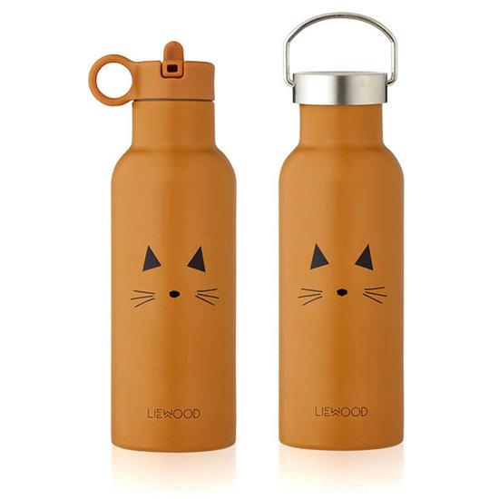Liewood Liewood Neo Trinkflasche Cat mustard