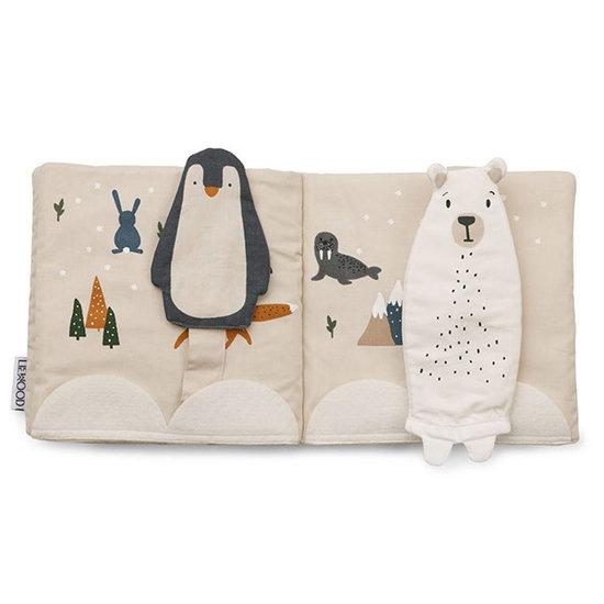 Liewood Liewood Benny stoffen babyboekje Arctic mix