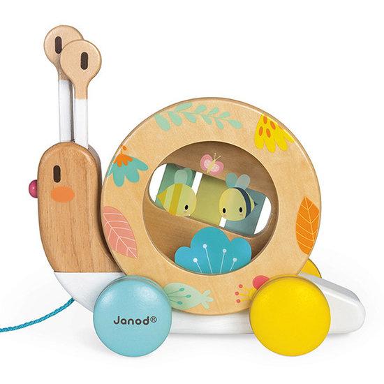 Janod speelgoed Trekdier muziekinstrumenten slak - Janod