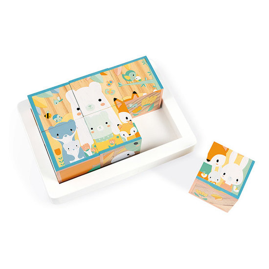 Janod speelgoed Blokpuzzel dieren 6st - Janod