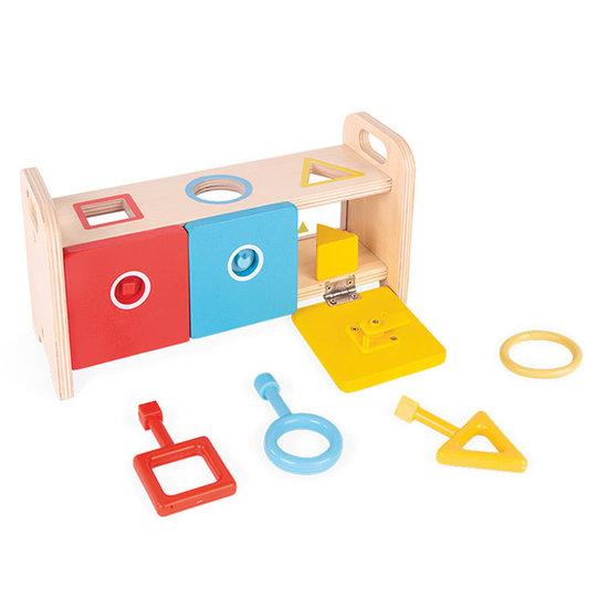 Janod speelgoed Sorteerspel met sleutels Essentiel - Janod