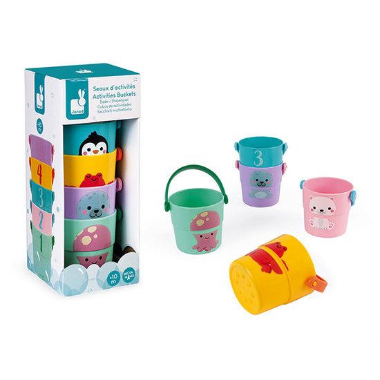 Janod speelgoed Badspeelgoed 5 emmertjes - Janod
