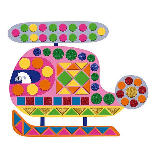 Janod speelgoed Janod craft set foam mosaics Vehicles