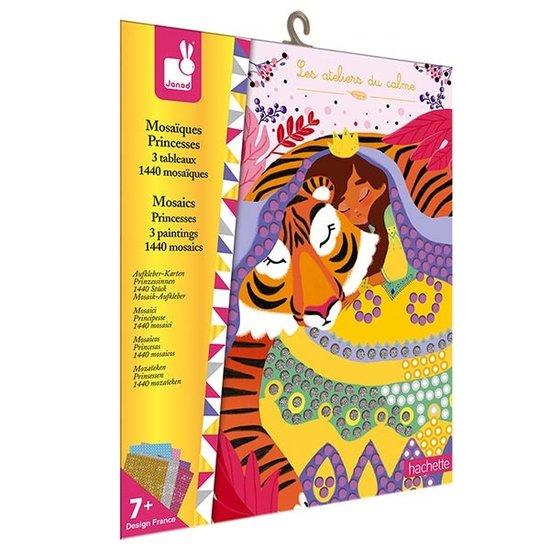 Janod speelgoed Janod Bastelset Aufkleber Karten Prinzessinnen