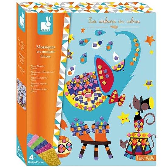Janod speelgoed Janod knutselpakket mozaïek Circus