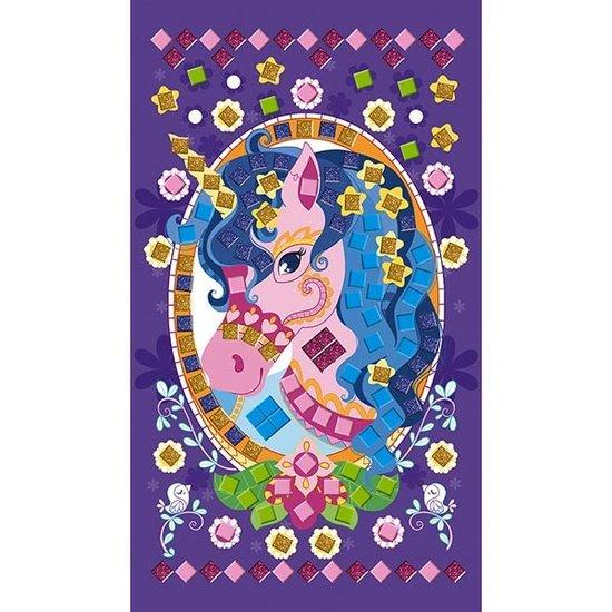 Janod speelgoed Janod knutselpakket mozaïek Pony's en eenhoorns