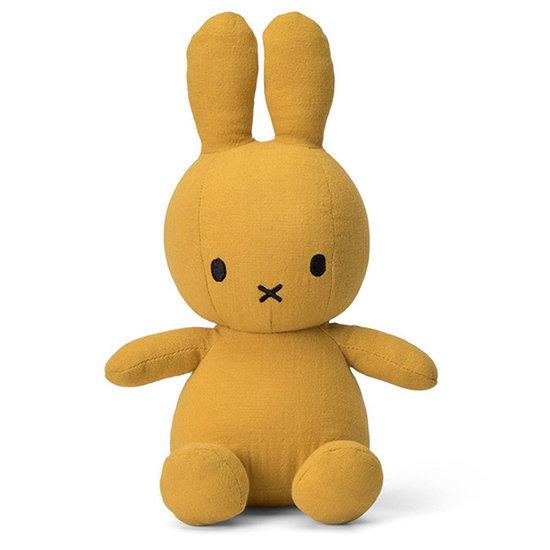 Nijntje - Miffy Miffy Hase Musselin 23 cm - Yellow