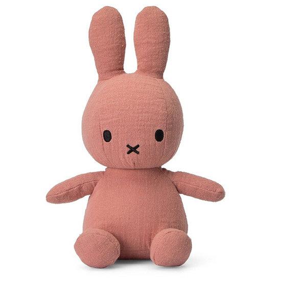 Nijntje - Miffy Nijntje knuffel mousseline 23 cm - Pink