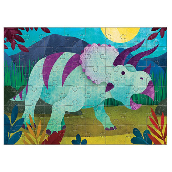 Mudpuppy Mudpuppy mini puzzel Triceratops 48st