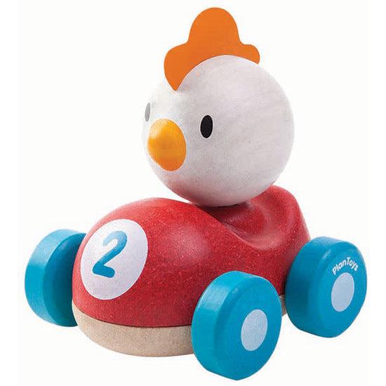 Plan Toys Plan Toys - speelgoed auto - kip racer +1jr