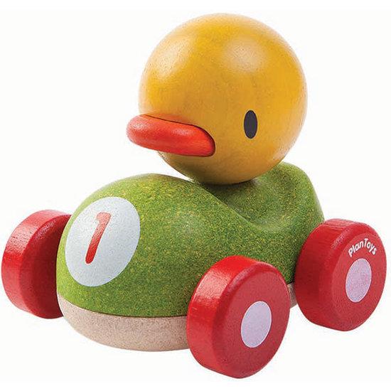 Plan Toys Plan Toys speelgoed auto - eend racer +1jr