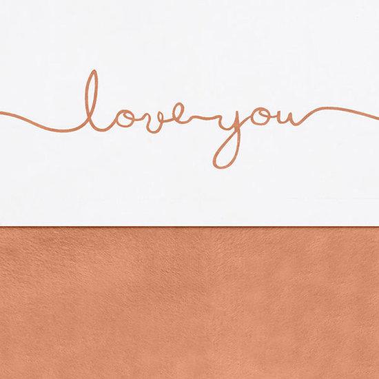 Jollein Jollein sheet 120x150cm Love you Caramel