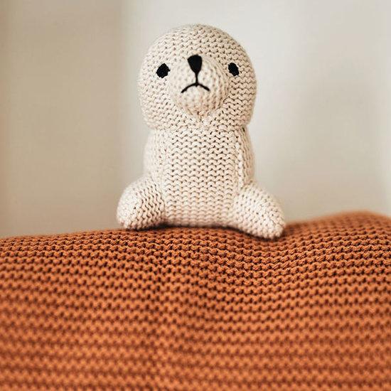 Jollein Jollein deken 100x150cm Basic knit caramel