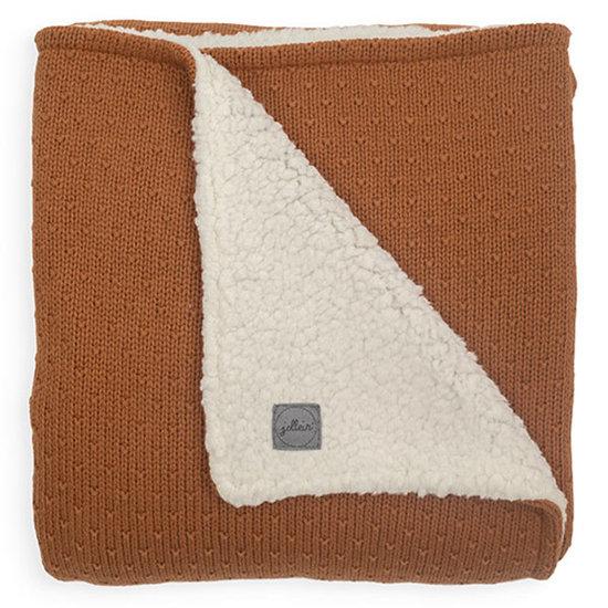 Jollein Jollein Decke Teddy 100x150cm Bliss knit caramel
