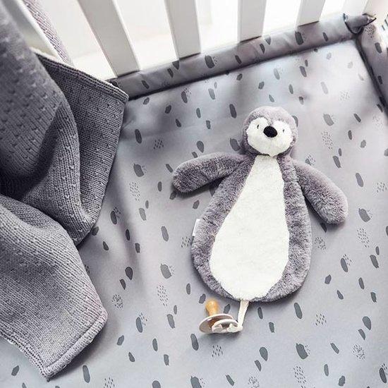 Jollein Jollein Schnullertuch Pinguin storm grey