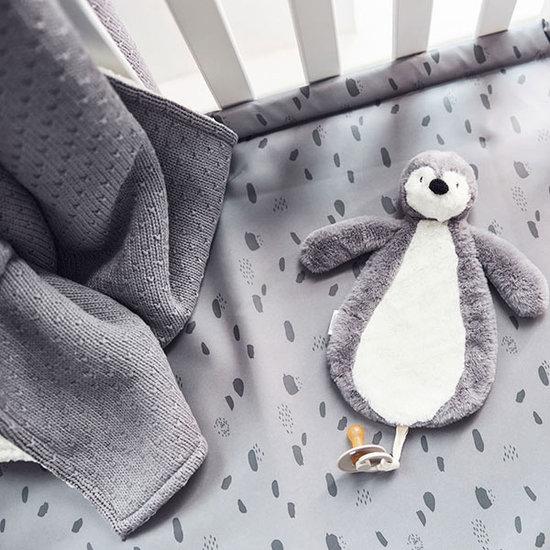 Jollein Jollein Decke Teddy 100x150 Bliss knit storm grey