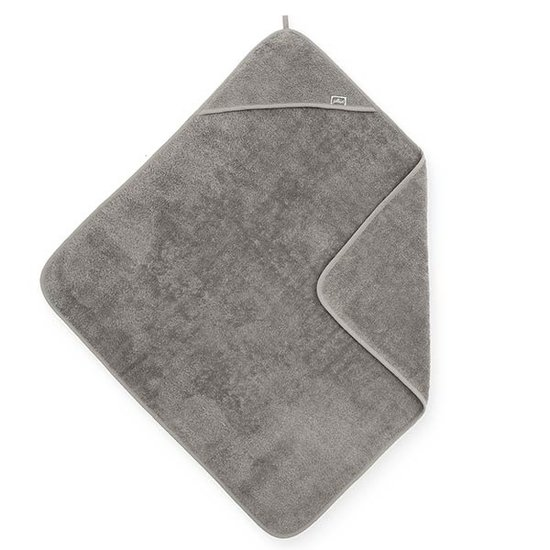 Jollein Jollein hooded towel terry 75x75cm Storm grey