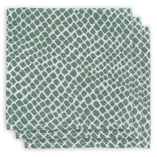 Jollein Jollein hydrofiel monddoekje Snake ash green 3pack