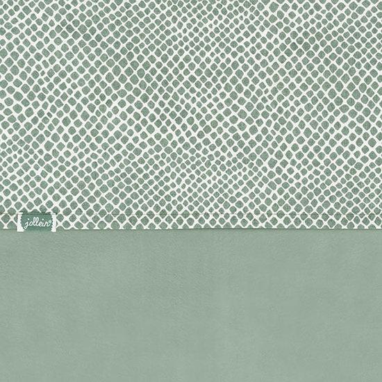 Jollein Jollein Bettlaken 120x150cm Snake ash green
