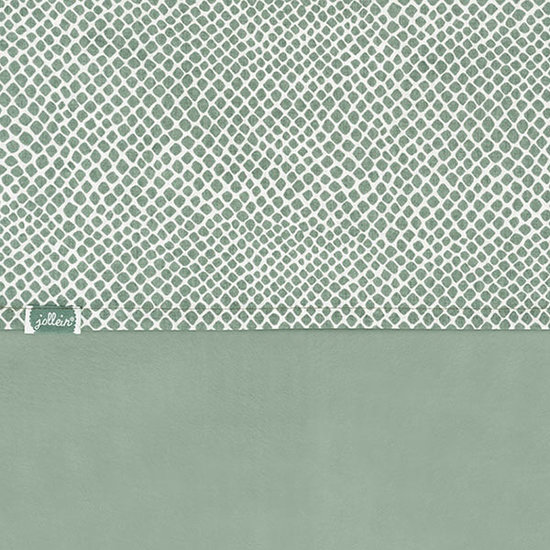 Jollein Jollein laken 120x150cm Snake ash green
