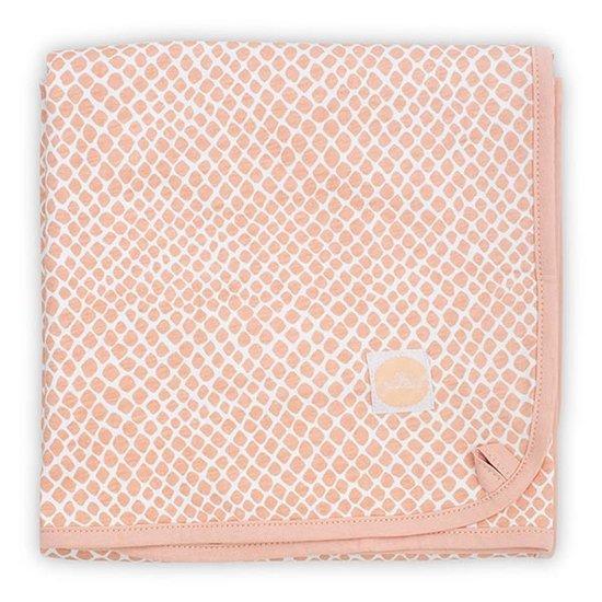 Jollein Jollein blanket jersey 75x100cm Snake pale pink