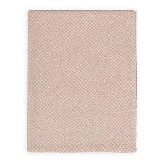 Jollein Jollein laken 120x150cm Snake pale pink