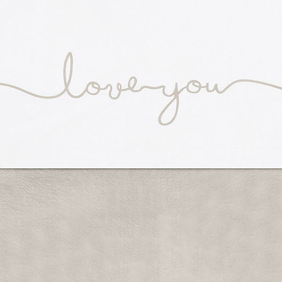 Jollein Jollein sheet 75x100cm Love you Nougat